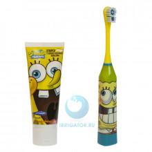 Электрическая зубная щетка Spongebob + зубная паста в Екатеринбурге