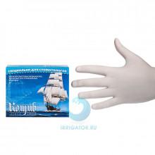 Перчатки смотровые латексные без талька (L) - 100 шт в Екатеринбурге