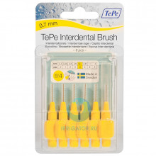 Ершики TePe Interdental Brush 0.7 мм Yellow в Екатеринбурге