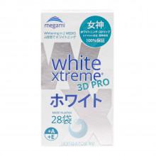 Отбеливающие полоски Megami White Xtreme 3D PRO для чувствительных зубов, 28 шт. в Екатеринбурге
