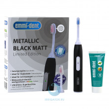 Ультразвуковая зубная щетка Emmi-Dent 6 Professional Black Matt черная матовая в Екатеринбурге